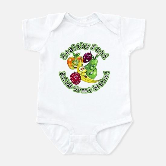 Healthy Food Builds Great Brains! Infant Bodysuit