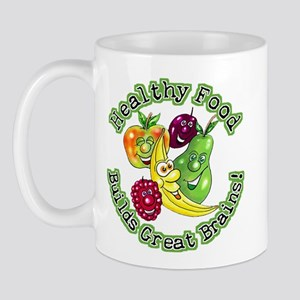 Healthy Food Builds Great Brains! Mug