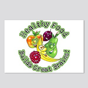 Healthy Food Builds Great Brains! Postcards (Packa