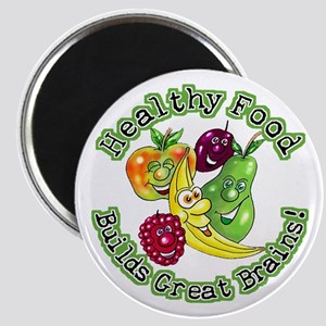 Healthy Food Builds Great Brains! Magnet