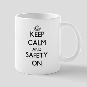 Keep Calm and Safety ON Mugs