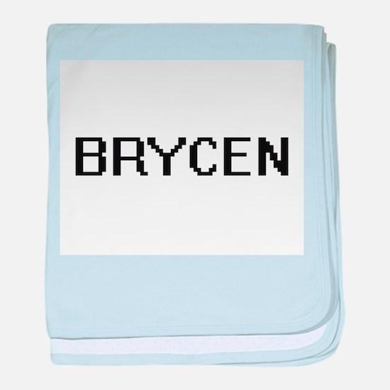 Brycen Digital Name Design baby blanket
