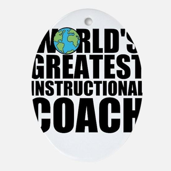 World's Greatest Instructional Coach Oval Orna
