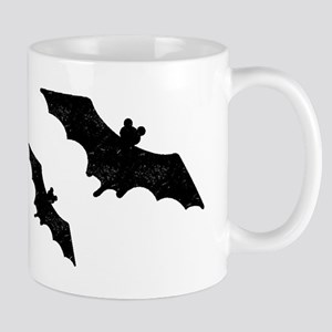 Distressed Bats Silhouette Mugs