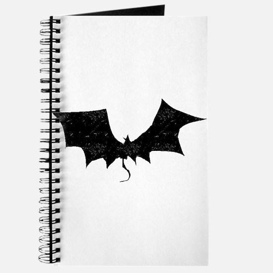 Distressed Bat Silhouette Journal