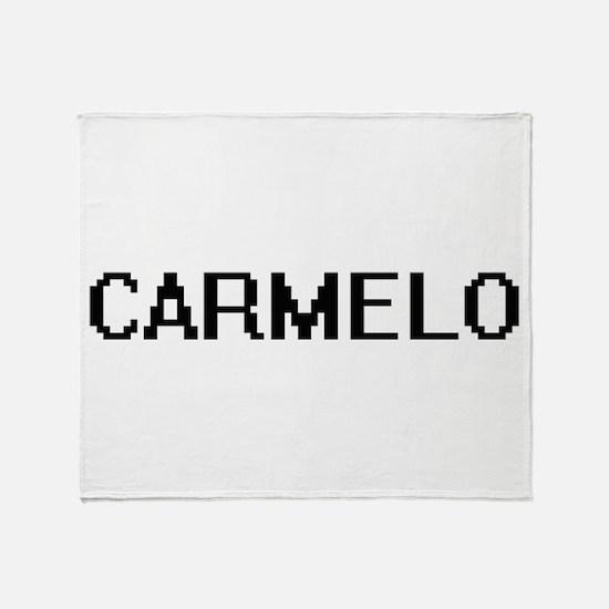 Carmelo Digital Name Design Throw Blanket