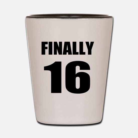 16th Birthday Humor Shot Glass