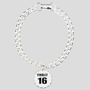 16th Birthday Humor Charm Bracelet, One Charm