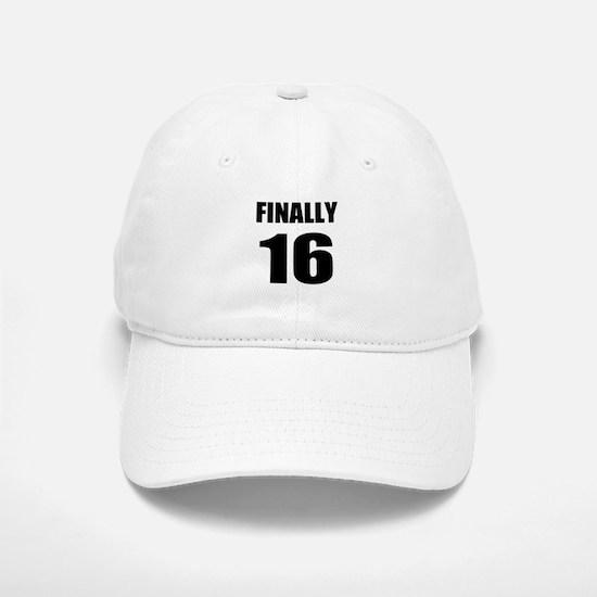 16th Birthday Humor Baseball Baseball Cap