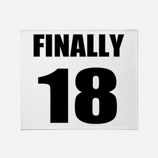 18th Birthday Humor Throw Blanket