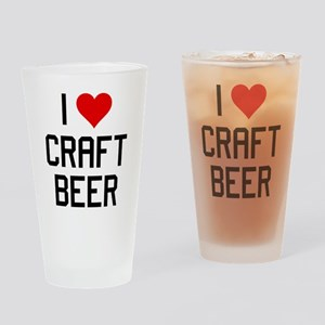 I Heart Craft Beer Drinking Glass
