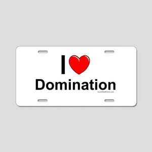 Domination Aluminum License Plate