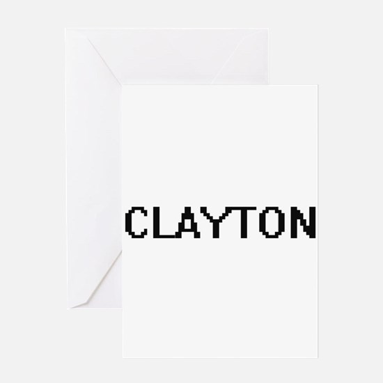 Clayton Digital Name Design Greeting Cards