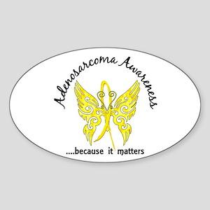 Adenosarcoma Butterfly 6.1 Sticker (Oval)