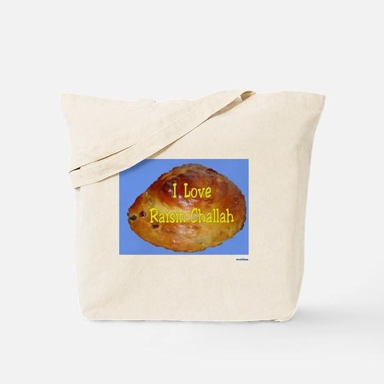 Jewish I Love Raisin Challah Tote Bag