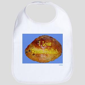 Jewish I Love Raisin Challah Bib