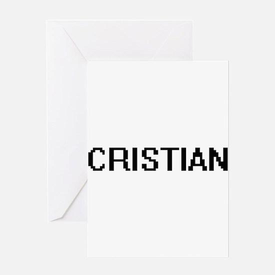 Cristian Digital Name Design Greeting Cards