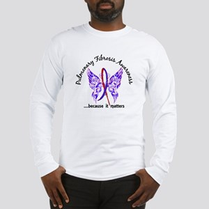 Pulmonary Fibrosis Butterfly 6 Long Sleeve T-Shirt