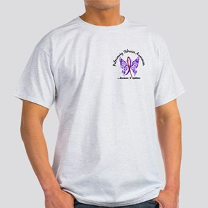 Pulmonary Fibrosis Butterfly 6.1 Light T-Shirt