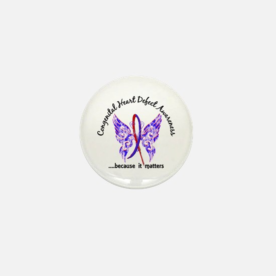 Congenital Heart Defect Butterfly 6.1 Mini Button