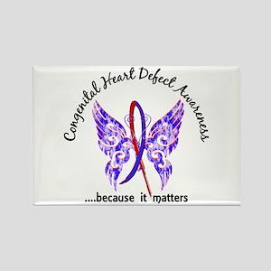Congenital Heart Defect Butterfly Rectangle Magnet