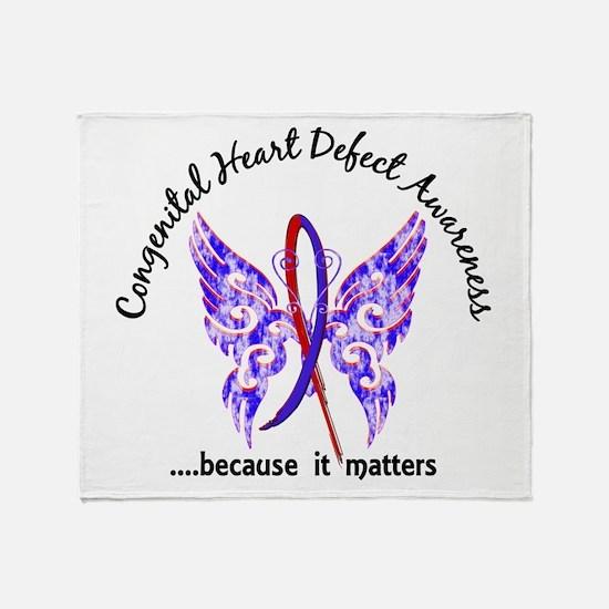 Congenital Heart Defect Butterfly 6. Throw Blanket