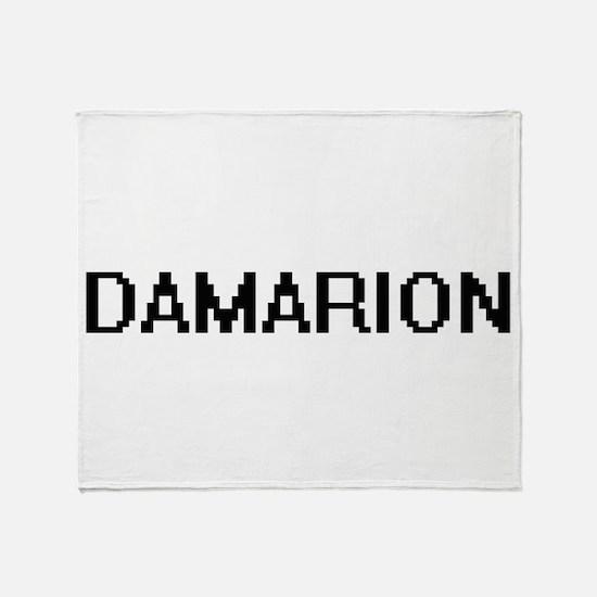 Damarion Digital Name Design Throw Blanket