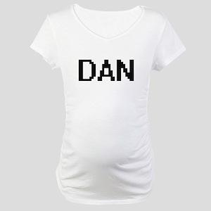 Dan Digital Name Design Maternity T-Shirt