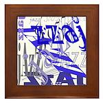 Jazz Blue Framed Tile