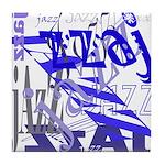 Jazz Blue Tile Coaster