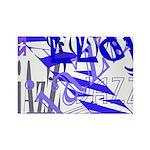 Jazz Blue Rectangle Magnet
