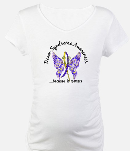 Down Syndrome Butterfly 6.1 Shirt