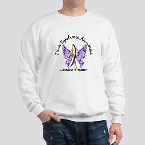 Down Syndrome Butterfly 6.1 Sweatshirt