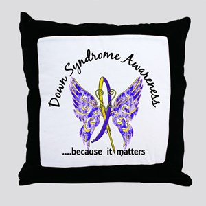 Down Syndrome Butterfly 6.1 Throw Pillow