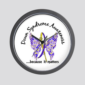 Down Syndrome Butterfly 6.1 Wall Clock
