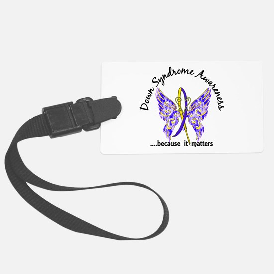 Down Syndrome Butterfly 6.1 Luggage Tag