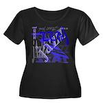 Jazz Blue Women's Plus Size Scoop Neck Dark T-Shir