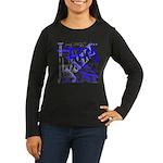 Jazz Blue Women's Long Sleeve Dark T-Shirt
