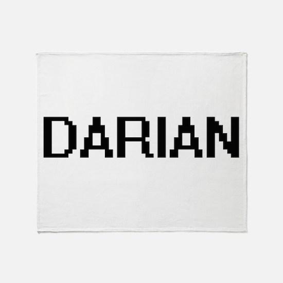 Darian Digital Name Design Throw Blanket