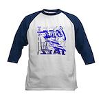 Jazz Blue Kids Baseball Jersey