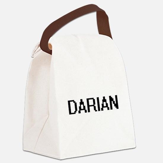 Darian Digital Name Design Canvas Lunch Bag