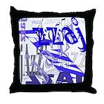 Jazz Blue Throw Pillow