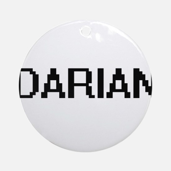 Darian Digital Name Design Ornament (Round)