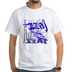 Jazz Blue White T-Shirt