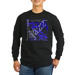 Jazz Blue Long Sleeve Dark T-Shirt