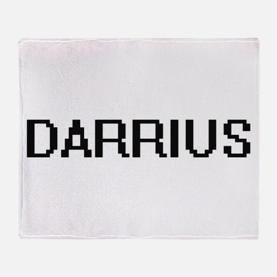 Darrius Digital Name Design Throw Blanket