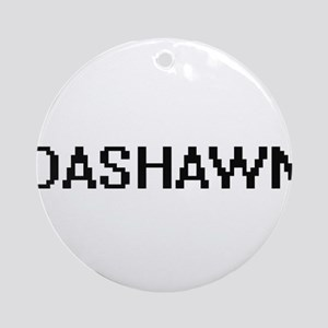 Dashawn Digital Name Design Ornament (Round)