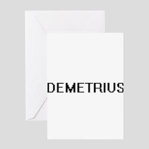 Demetrius Digital Name Design Greeting Cards