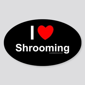 Shrooming Sticker (Oval)