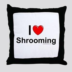 Shrooming Throw Pillow